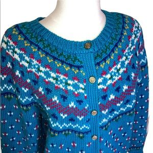 Vintage Northern Isles Petites Button Sweater
